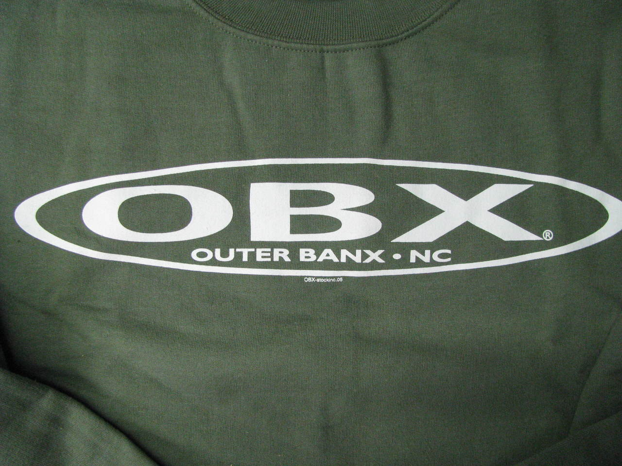 OBX Stretch Sweatshirt Military Green Outer Banks