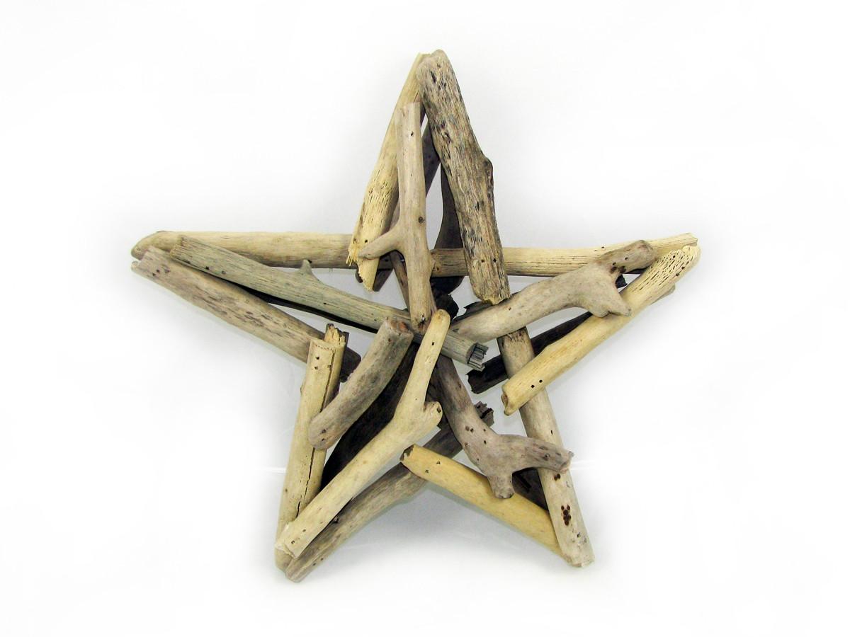 """Driftwood Star Sculpture 9.5"""""""
