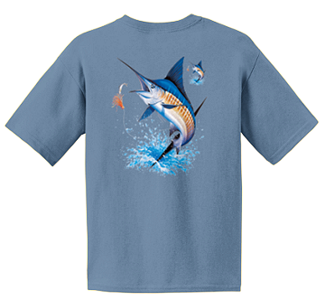 Outer Banks Gulf Stream Blue Marlin Short Sleeve T Shirt Youth