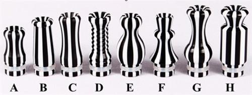 510 901 Pin Stripe Delrin Drip Tip