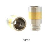 510 SS + Brass Wide Bore Drip Tip | VapeKing