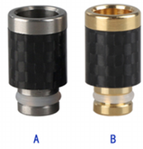 510 SS + Carbon Fibre Wide Bore Tip | VapeKing