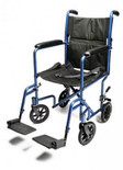 Lightweight Aluminum Transport Wheelchair, various colors