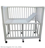 MRI Non-Magnetic PVC Crib, White