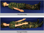 Teaching/Training Phantom System - Wounded Willy & Damaged Debbie