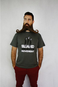 Beard Rights Movement Tee - Asphalt