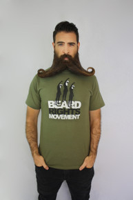 Beard Rights Movement Tee - Military Green
