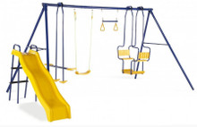 PLUM® 5 UNIT METAL SWING WITH SLIDE