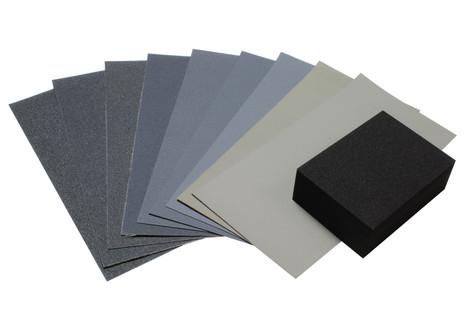 "Micro-Mesh 3"" x 6"" Sanding sheet set w/ sanding block"