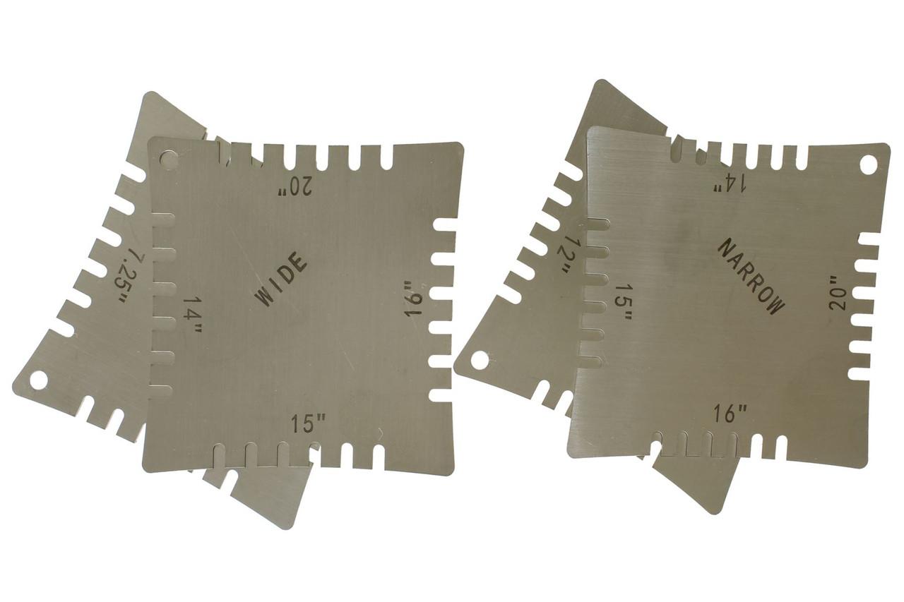 notched guitar radius gauges set of 4 philadelphia luthier tools supplies llc. Black Bedroom Furniture Sets. Home Design Ideas