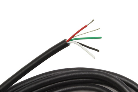 4 conductor pickup hookup wire w  shield 5ft