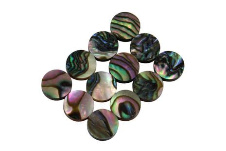 Green Abalone dot inlays