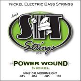 S.I.T. Strings NR45105L - Power Wound 4 String Bass Nickel Medium Light (45-105)