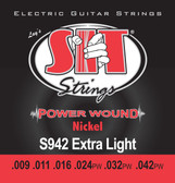 S.I.T. Strings S942 - Powerwound Nickel Electric Extra Light (9-42)