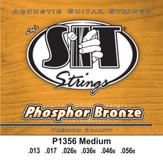 S.I.T. Strings P1356 - Phosphor Bronze Acoustic Strings Medium (13-56)