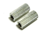 "Extra Long 1.188"" Stop bar Tailpiece Anchor Mounting Bushings Steel Coarse Knurl"