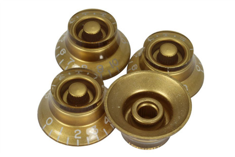 Gold bell hat knob - US Fine spline