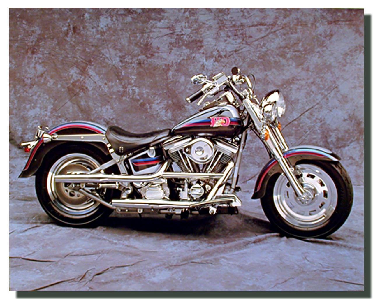 Old Harley Davidson: Vintage Harley Davidson Motorcycle Poster