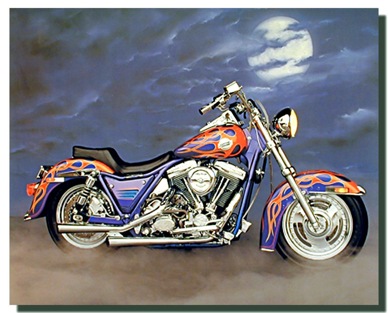 1986 FXR Harley Motorcycle Poster | Motorcycle Posters