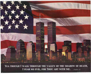 America National Anthem In Flag Wall Decor Art Print Poster (16x20)