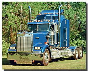 Blue Kenworth Truck Poster