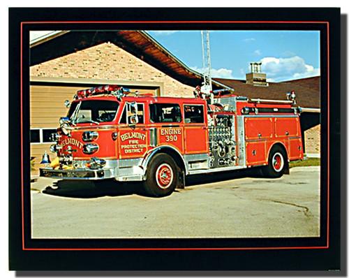 American Lafrance Fire Truck Poster