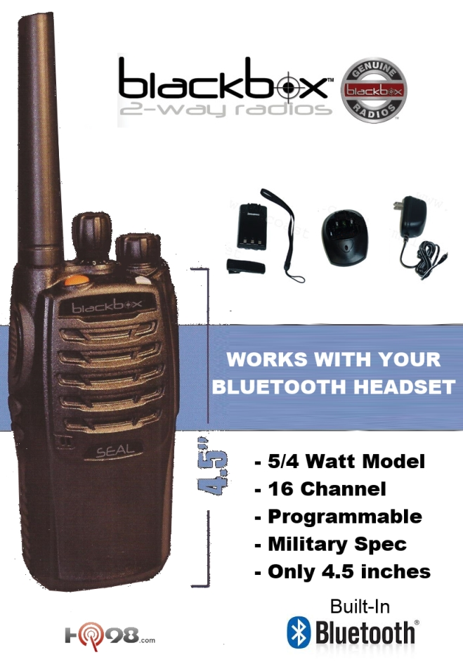 blackbox seal two way waterproof military spec radio with built in bluetooth coming spring 2015. Black Bedroom Furniture Sets. Home Design Ideas