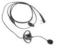 Kenwood KHS-25 D-Ring Ear Hanger Headset With PTT And Boom Mic For All Tk Series Radio. This a great low cost headset solution.