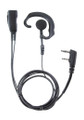 Comfortable hook style earpiece can be used on either left or right ear by Pryme fits Motorola and Kenwood Two Pin Radios