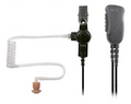 The Pryme SPM 1300 Series Rugged lapel mic with surveillance style acoustic tube earphone has a clear tube is low profile and provides outstanding receive audio.