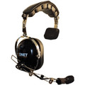 The COMET Single Muff Headset has a Swivel Boom Microphone for Left or Right side use plus a soft cloth cover for earpad included.