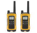 FRS/GMRS radios supports 22 channels and 121 privacy codes per channel with up to 35 miles of range with this Motorola T400.