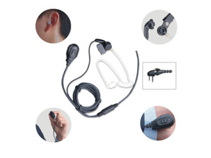 Hytera EAM13 Surveillance Earpiece 2-Wire with Transparent Tube, PPT and VOX.