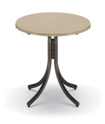 "Telescope Casual 30"" Round Werzalit Counter Height Table without an Umbrella Hole"