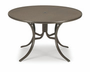 "Telescope Casual 42"" Round Perforated Dining Table with an Umbrella Hole"