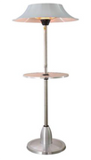 AZ Patio Heaters Adjustable Infared Electric Patio Heater with Table