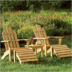 Adirondack Chair and Footstool Set