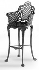 Three Coins Basketweave Barstool