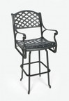 Three Coins Crossweave Swivel Barstool