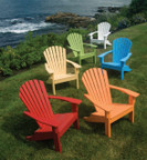 Seaside Casual Adirondack Shell Back Chair - EnviroWood