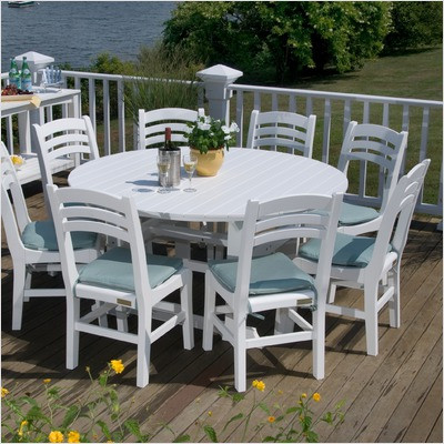 Seaside Casual Salem 60 Round Dining Table Envirowood Garden
