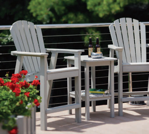 Seaside Casual Shellback Balcony Chair Envirowood Sea017