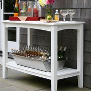 Seaside Casual Windsor Outdoor Buffett Table Large - EnviroWood