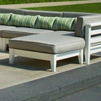 Seaside Casual Cambridge Sectional Ottoman & Cushion