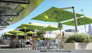 "Shademaker Orion 8'2"" Square Cantilever Umbrella"