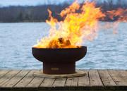 "Fire Pit Art Low Boy 36"" Wood Burning Fire Pit"