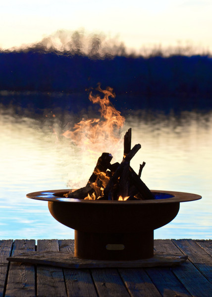 Fire Pit Art Saturn Wood Burning Fire Pit