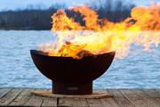 Fire Pit Art Scallops Wood Burning Fire Pit