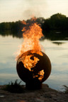 Fire Pit Art Third Rock Wood Burning Fire Pit