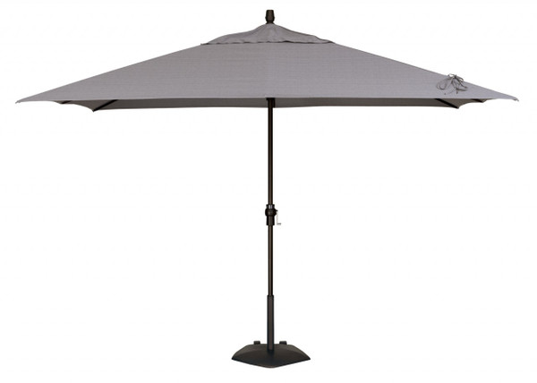 Treasure Garden Aluminum 8' x 10' Rectangle Auto Tilt Umbrella, single wind vent